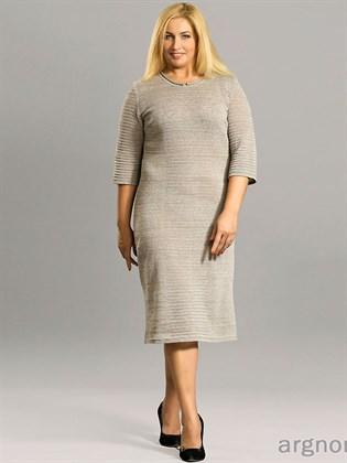 Платье изо льна больших размеров