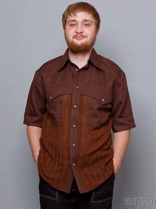 Рубашка мужская комбинированная: ткань и трикотаж
