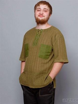 Трикотажный мужской джемпер с карманами