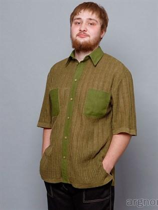 Рубашка льняная - трикотажная