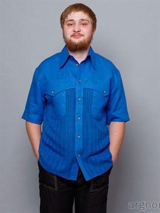 Рубашка из льняной ткани и трикотажа