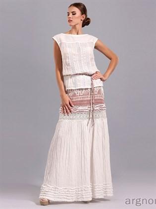 Длинная юбка из льна