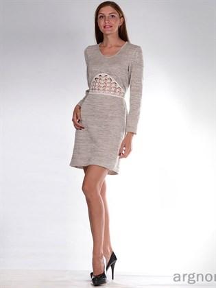 Платье из меланжевой пряжи