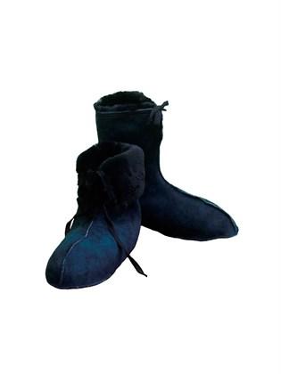 Мужские меховые носки из овчины (черные)