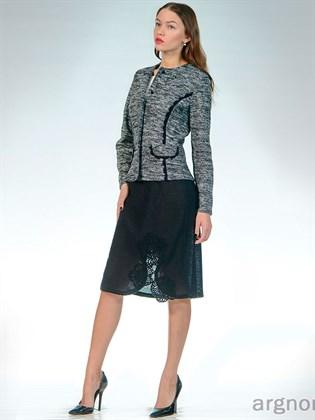 Вязаная юбка с декором