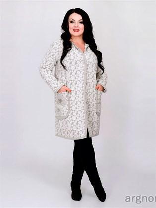 Пальто женское утепленное с декором