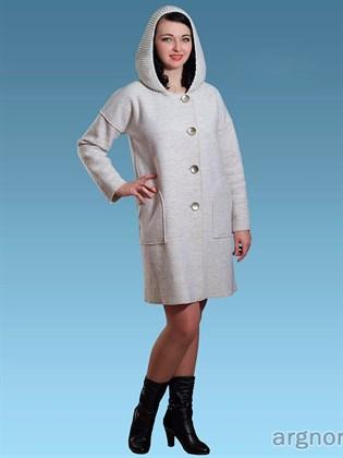 Пальто из валяного полотна с капюшоном