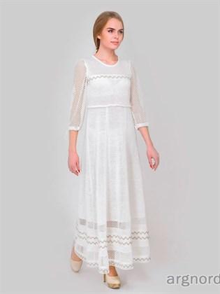 Платье женское из отбеленного льна