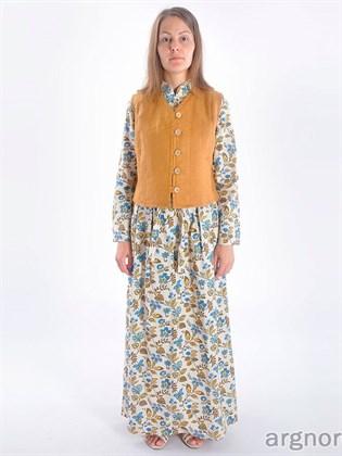 """Женское платье из льна """"Цветочное настроение"""""""