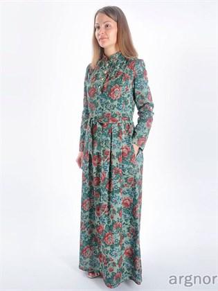 """Льняное платье """"Пионы"""""""