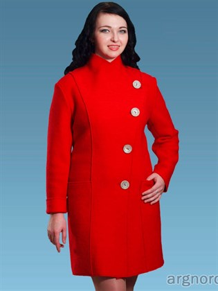 Пальто из валяного полотна (шерсть, лен)