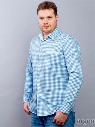 Мужская рубашка с длинным рукавом из хлопка
