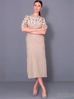 Платье женское льняное (вариант 1)