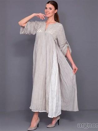Летнее платье из жатого льна