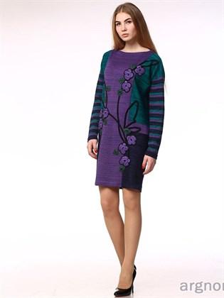 Платье из льна с воротом - лодочка