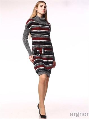 Платье вязаное из льна