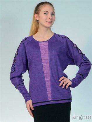Яркий фиолетовый джемпер