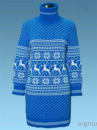 Платье вязаное с оленями
