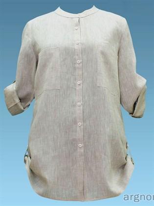 Летняя льняная блуза