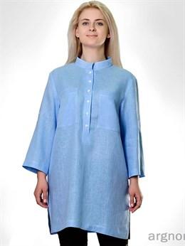 Блуза льняная с разрезами