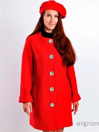 Женское пальто из валяного полотна