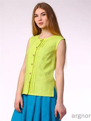 Блуза из льняной ткани