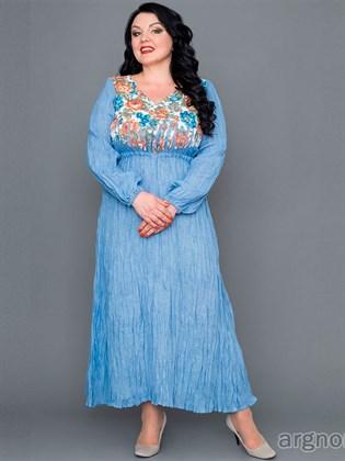 Платье летнее (жатый лен)
