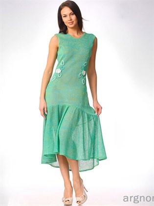 Платье из тонкого льняного трикотажа