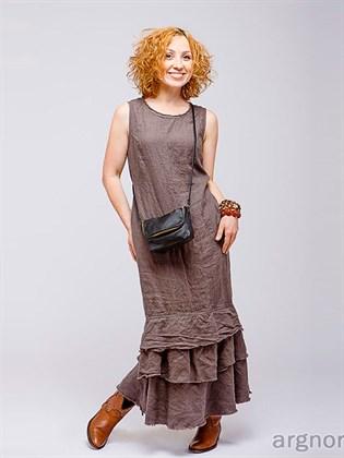 Платье-сарафан в стиле бохо из льна
