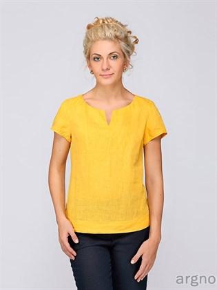 Льняная блуза без застежки