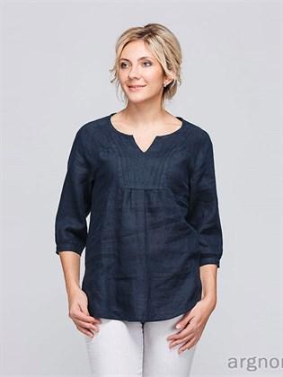 Льняная блуза свободного кроя