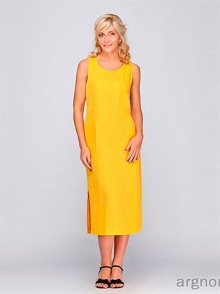 Женское платье из льна с разрезами