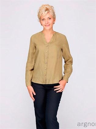 Блуза льняная с длинным рукавом