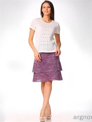 Трикотажная юбка из льна