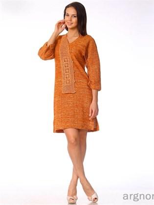 Платье вязаное с ажурной вставкой