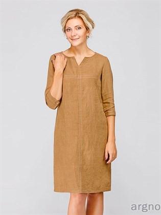 Платье прямого силуэта из льна