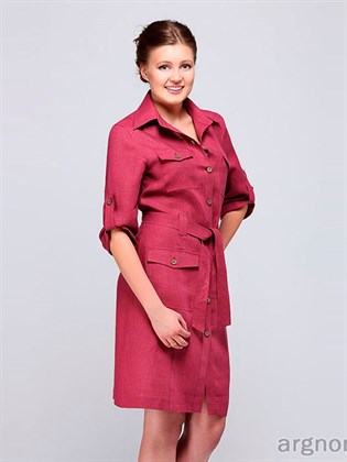 Платье-сафари из льна