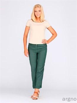 Льняные укороченные брюки