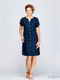 Платье в стиле - сафари из льна