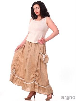 Длинная льняная юбка
