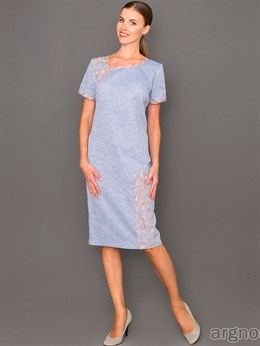Платье льняное (футляр)