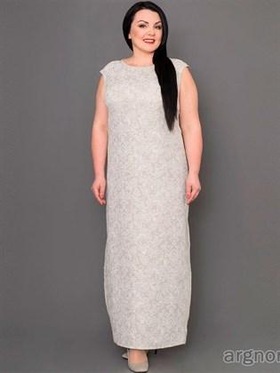 Длинное платье из льна