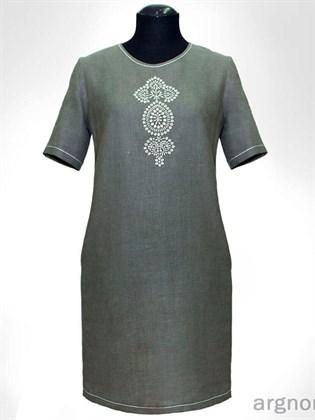 Летнее платье с вышивкой