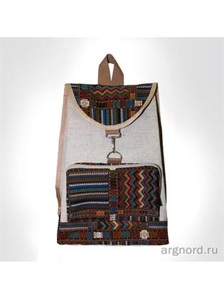 Рюкзак из льна и гобелена