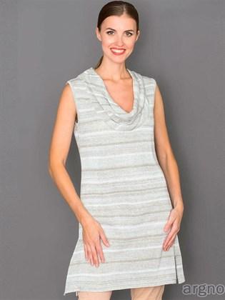 Льняное короткое платье