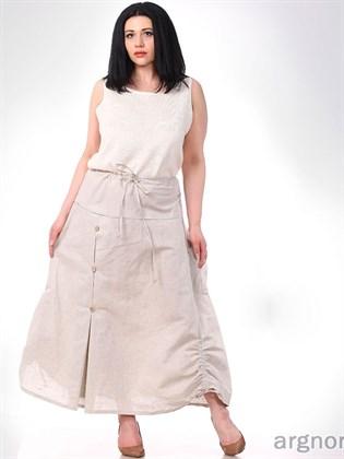 Летняя юбка изо льна