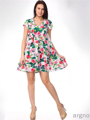 Льняное платье A-силуэта