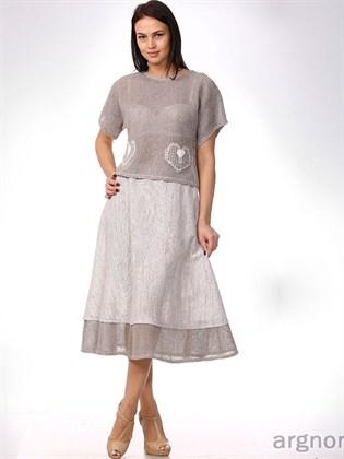 Трикотажная юбка А-силуэта