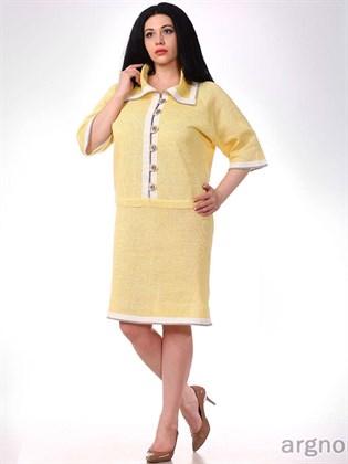 Трикотажное платье изо льна
