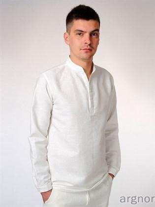 Рубашка мужская с воротником-стойка